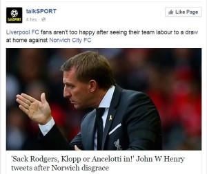 Mediawatch Brendan Rodgers Talksport