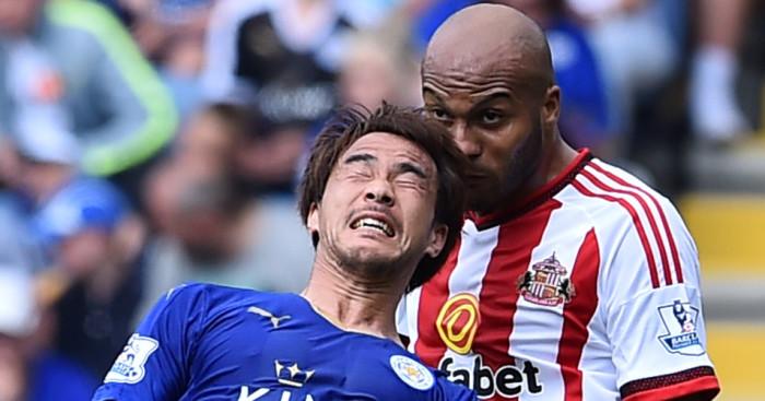 Shinji Okazaki Younes Kaboul Sunderland Leicester Football365