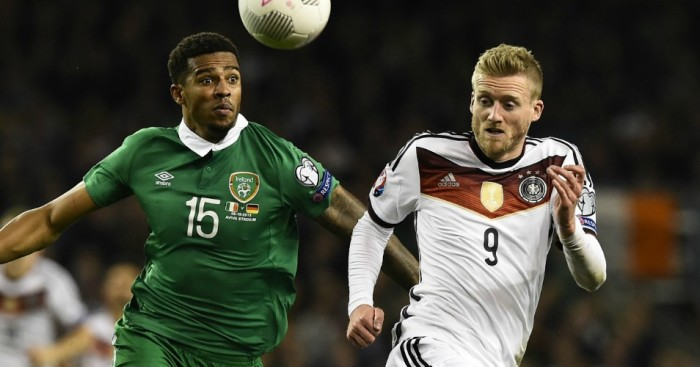 Cyrus Christie Andre Schurrle Republic of Ireland v Germany Football365