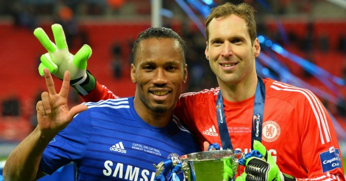 Petr Cech Didier Drogba Football365