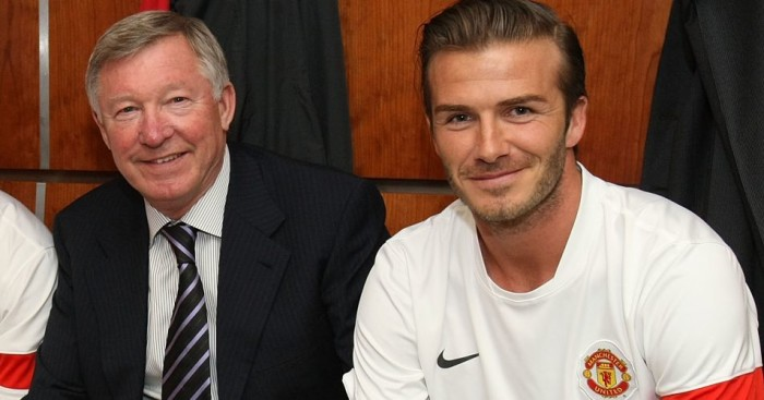 Sir Alex Ferguson David Beckham Manchester United Football365
