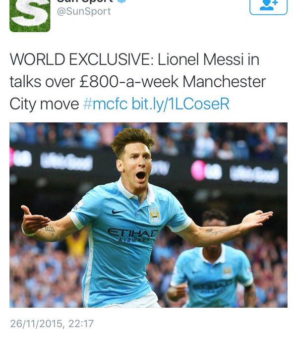 Lionel Messi The Sun Football365