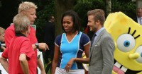 Peter Schmeichel David Beckham Michelle Obama 2012 Football365