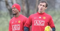 Gary Neville Patrice Evra Manchester United