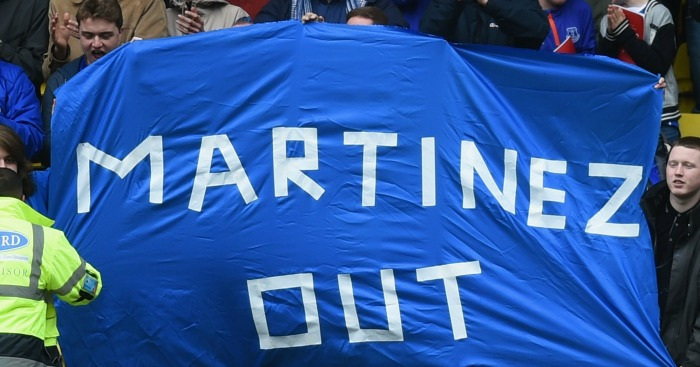 Martinez out