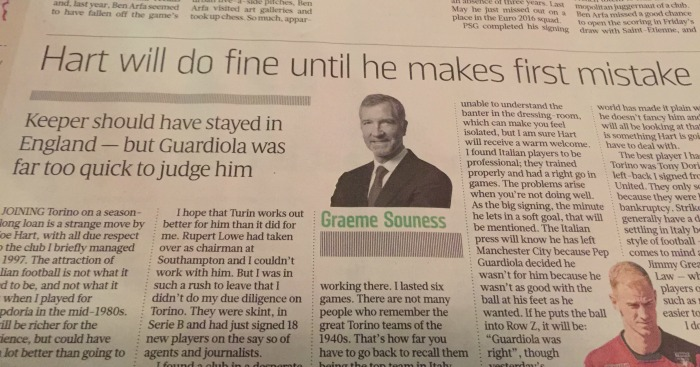 Souness Sunday Times