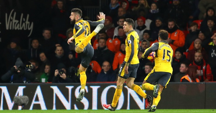 Giroud makes final three for Puskas award