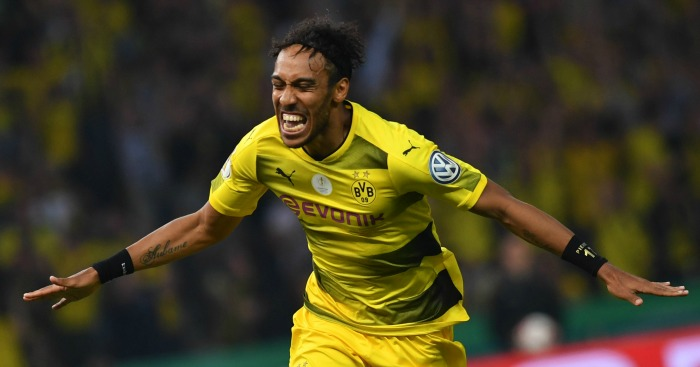 Aubameyang happy at Dortmund says manager Bosz