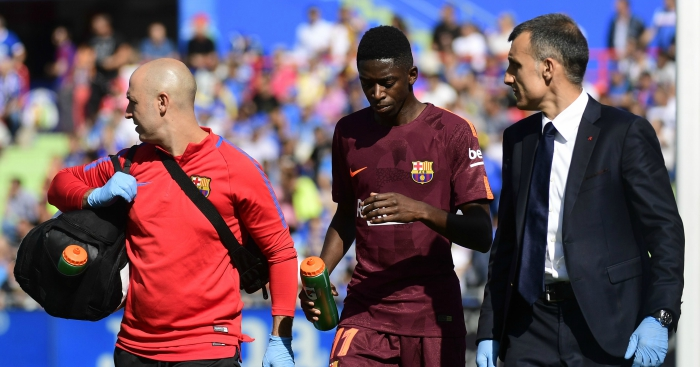 Barcelona shocked by long-term Dembele injury setback