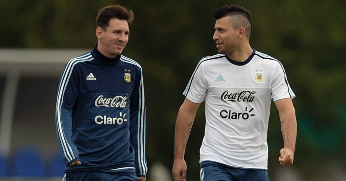 Sergio Aguero would 'love' Argentina team-mate Lionel Messi to join Manchester City