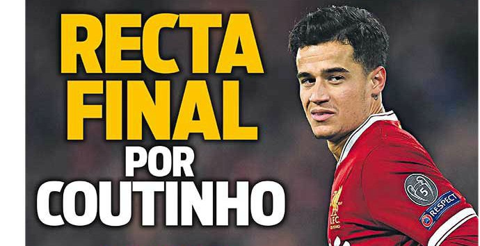 Barcelona In The 'Final Straight' To Agreeing A Deal For Philippe Coutinho