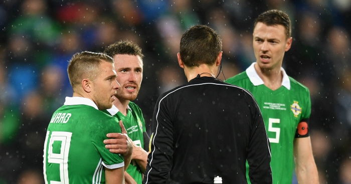 Ref admits Corry Evans penalty gaffe in Northern Ireland's World Cup play-off