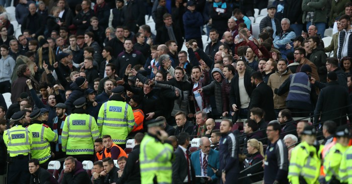 West Ham threatened with closed doors after pitch violence
