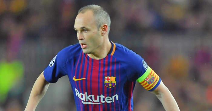Barcelona fans urge Andres Iniesta to stay with 'we love you' chants