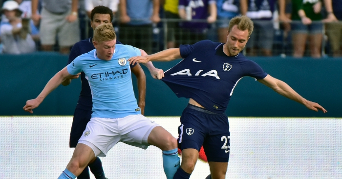Manchester City see of Spurs to take step closer to title