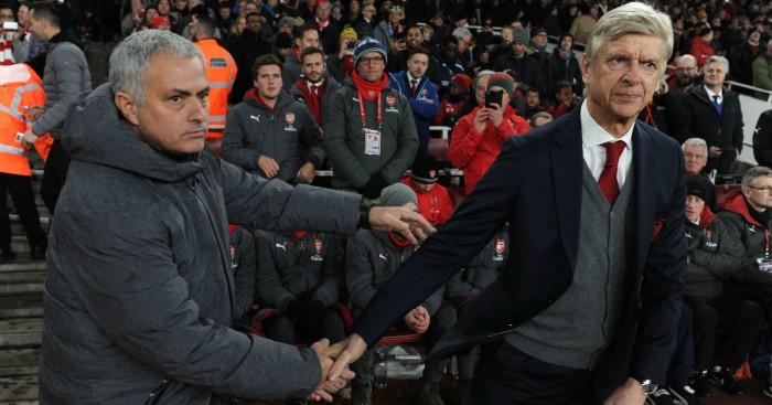 Image result for mourinho wenger