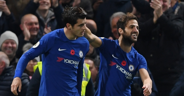 Cesc Fabregas blames misfiring Chelsea strikers for club's Premier League form