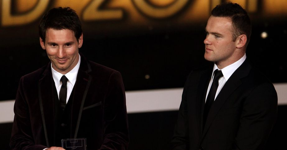 Rooney wants Messi to win Ballon d'Or with Man Utd or City