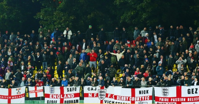 England fans Lithuania Football365