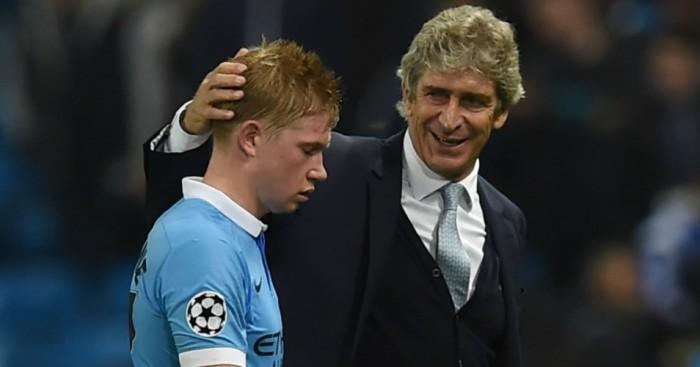 Manuel Pellegrini Kevin FDe Bruyne Manchester City Football365