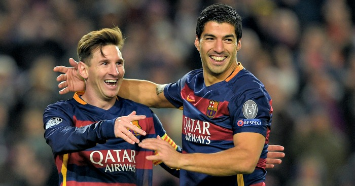 Lionel Messi Luis Suarez Football365