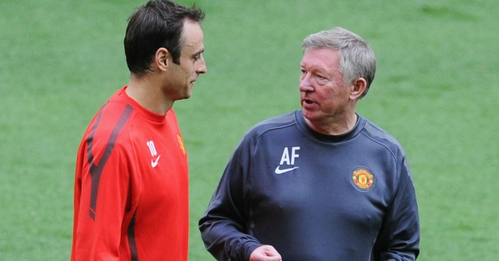 Image result for berbatov sir alex ferguson