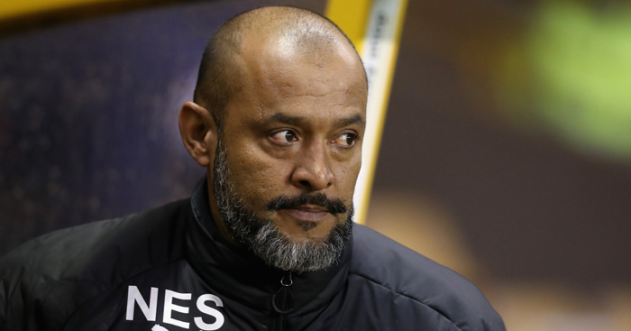 WOLVERHAMPTON, ENGLAND - SEPTEMBER 12: Nuno Espirito Santo, the Wolverhampton Wanderers head coach looks on during the Sky Bet Championship match between Wolverhampton Wanderers and Bristol City at Molineux on September 12, 2017 in Wolverhampton, England. (Photo by David Rogers/Getty Images)