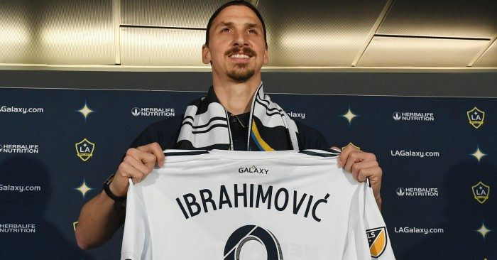 sneakers for cheap ec2d8 a9925 The lion is hungry' says Zlatan upon LA unveiling - Football365