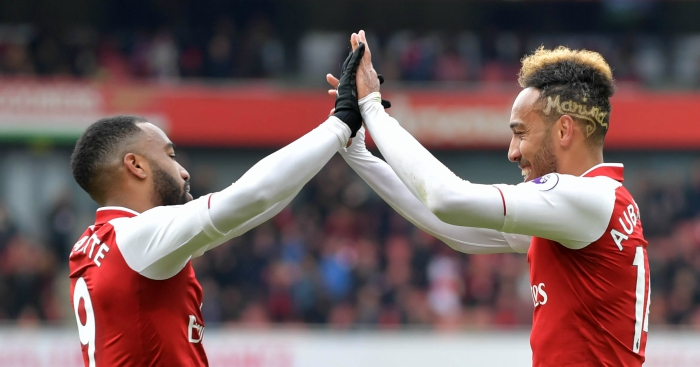 Image result for lacazette and aubameyang