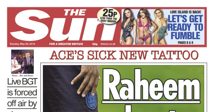 The sun biased headlines for dating