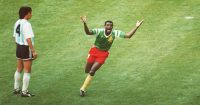 Cameroon goal Argentina World Cup 1990