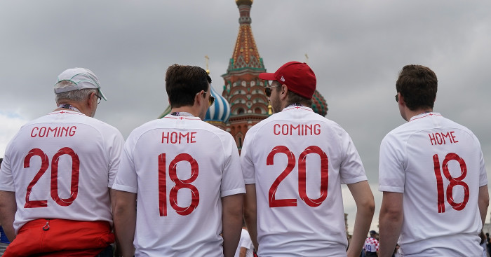 England fans Moscow Coming Home