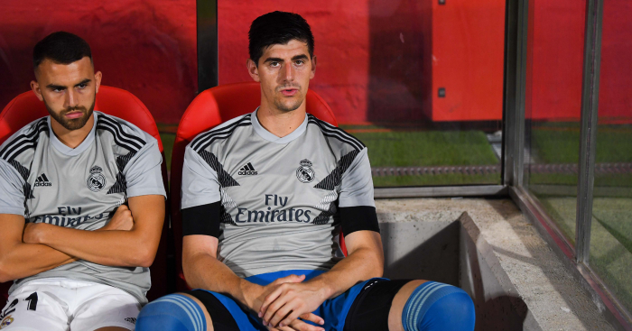 Image result for courtois zidane
