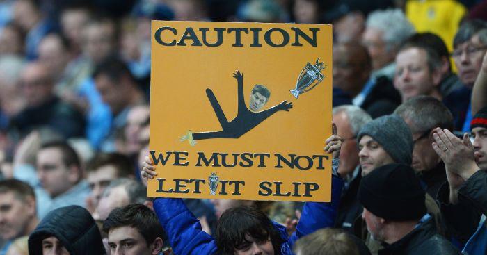 Steven Gerrard slip Liverpool