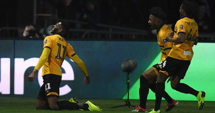 during the FA Cup Third Round match between Newport County and Leicester City at Rodney Parade on January 6, 2019 in Newport, United Kingdom.