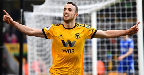 during the Premier League match between Wolverhampton Wanderers and Leicester City at Molineux on January 19, 2019 in Wolverhampton, United Kingdom.