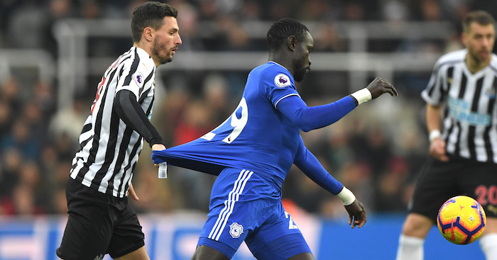 during the Premier League match between Newcastle United and Cardiff City at St. James Park on January 19, 2019 in Newcastle upon Tyne, United Kingdom.