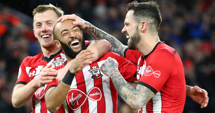 during the Premier League match between Southampton FC and Everton FC at St Mary's Stadium on January 19, 2019 in Southampton, United Kingdom.
