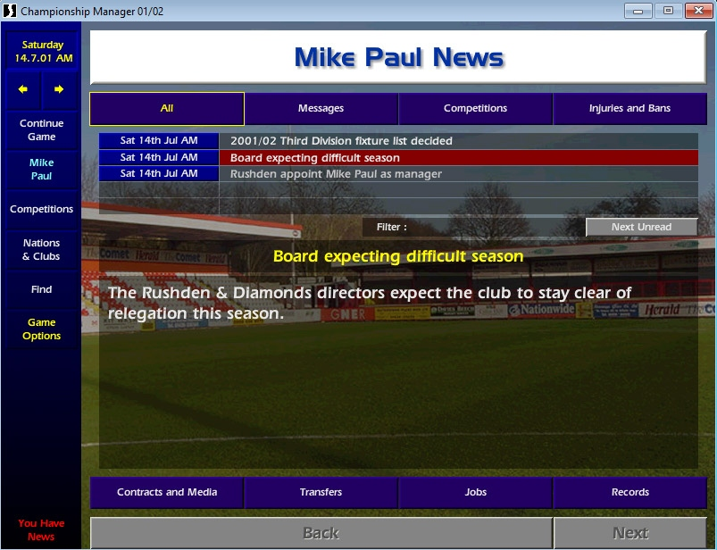 Diamond Geezers: Adventures in Championship Manager 01/02 - Football365