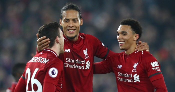 d43bfd32a Jurgen Klopp paid tribute to Liverpool full-backs Trent Alexander-Arnold  and Andy Robertson on Friday.