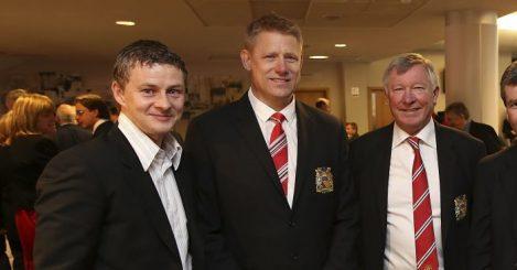 Ole Gunnar Solskjaer Peter Schmeichel Manchester United