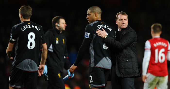 Glen Johnson Brendan Rodgers Liverpool