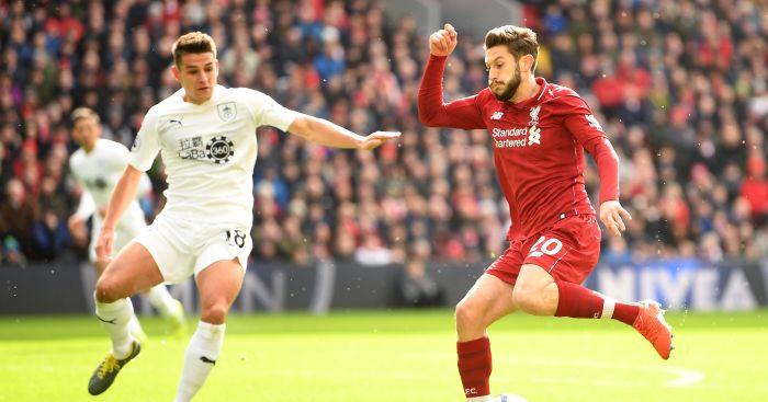 Adam Lallana Liverpool Burnley