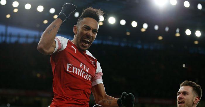 Pierre-Emerick Aubameyang Arsenal Manchester United