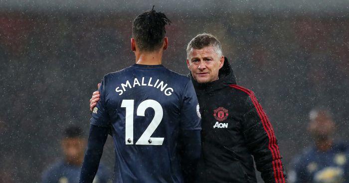 Ole Gunnar Solskjaer Chris Smalling Manchester United