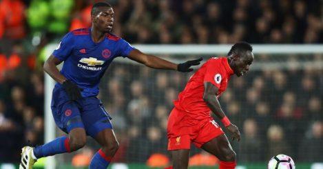 Paul Pogba Sadio Mane Manchester United Liverpool