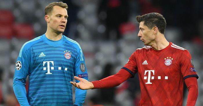 Manuel Neuer Robert Lewandowski Bayern Munich