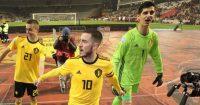 Thibaut Courtois Eden Hazard Belgium