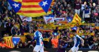 Barcelona Espanyol Catalonia flags