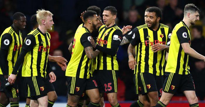 Watford celebrate Fulham